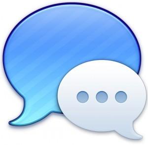 Programm-Icon, zwei Sprechblasen